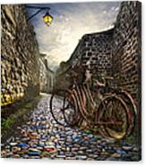 Old Bicycles On A Sunday Morning Canvas Print