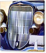 Old Blue Car Canvas Print