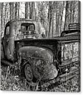 Old Blue In Sepia Canvas Print