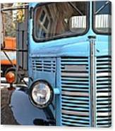 Old Blue Jalopy Truck Canvas Print