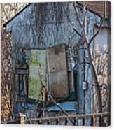 Old Blue Shack Canvas Print