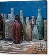 Old Bottles Canvas Print