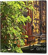 Old Boxcar Dying Slowly Canvas Print