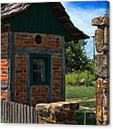Old Brick Shed Canvas Print