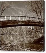 Old Bridge In Autumn Canvas Print