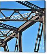 Old Bridge Structure Canvas Print