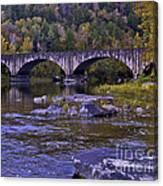 Old Bridge Two Canvas Print