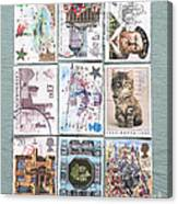 Old British Postage Stamps Canvas Print