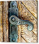 Old Bronze Church Door Handle Canvas Print