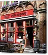 Old Brugge Tavern Canvas Print