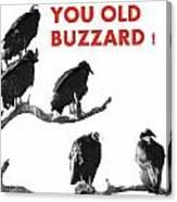 Old Buzzard Valentine Canvas Print