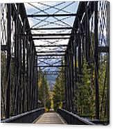 Old Canmore Railroad Bridge Canvas Print