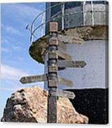 Old Cape Point Lighthouse In South Africa Canvas Print