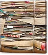 Old Cardboard Boxes  Canvas Print