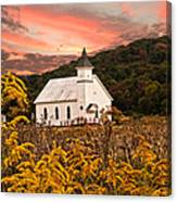 Old Carmel Ohio Church Canvas Print