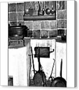 Old Cast Iron Cooking Canvas Print