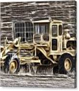 Old Cat Grader Canvas Print