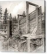 Old Cattle Ramp Canvas Print