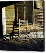 Old Chair On Old Porch Canvas Print