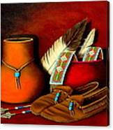 Old Cherokee Moccasins Canvas Print