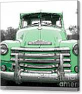 Old Chevy Pickup Truck Canvas Print