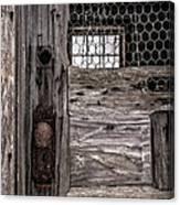 Old Chicken Coop Canvas Print