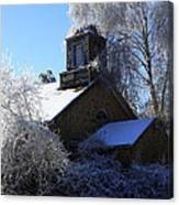 Old Church In Ice Canvas Print