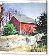 Old Church Schoolhouse  Canvas Print