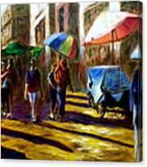 Old City Ahmedabad  Series 2 Canvas Print