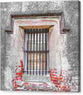 The Old City Jail Window Chs Canvas Print