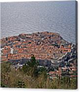 Old City Of Dubrovnik  Canvas Print