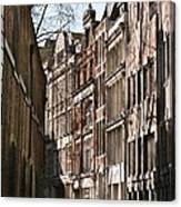 Old City Street Scene In London Canvas Print