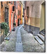 Old Colorful Stone Alley Canvas Print