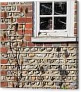 Old Cottage Window Sussex Uk Canvas Print
