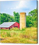 Old Country Farm And Barn Canvas Print