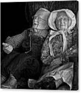 Old Couple Mannequins In Shop Window Display Canvas Print