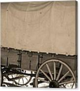 Old Covered Wagon Out West Canvas Print
