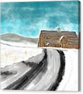 Old Dairy Barn Canvas Print