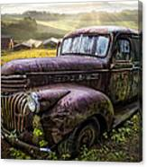 Old Dairy Farm Truck Canvas Print