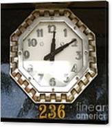 Old Decco Store Clock At 236 Worth Ave Palm Beach Fl Canvas Print