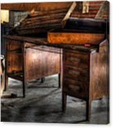 Old Desk In The Attic Canvas Print