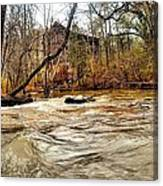 Old Dial Mill On The Rushing Waters Of Big Haynes Creek Canvas Print