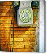 Old Dial Phone Canvas Print