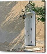 Old Door And Stucco Wall Canvas Print