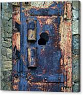 Old Door At Abandoned Prison Canvas Print