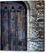 Old Door With Spider Webs Canvas Print