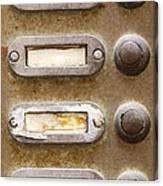 Old Doorbells Canvas Print