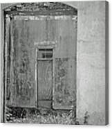 Old Doorway Bw Canvas Print