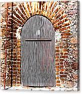 Old Doorway Of Pidgeon Island Fort Canvas Print
