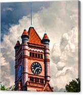 Old Dupage County Courthouse Clouds Canvas Print
